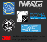 Affiliate Logos: Skin Cancer Foundation, LEED Design, and 3M