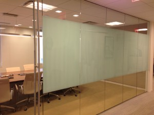 Dry Erase White Board Film in an office space